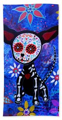 Chihuahua Day Of The Dead Beach Towel