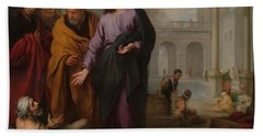 Christ Healing The Paralytic At The Pool Of Bethesda Beach Towel