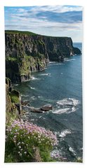 Cliffs Of Moher, Clare, Ireland Beach Towel