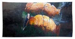 3 Cracked Urns Beach Towel by Gary Smith