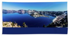 Beach Towel featuring the photograph Crater Lake by Jonny D