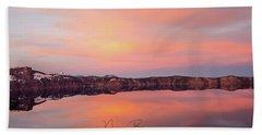 Crater Lake Oregon Beach Sheet by Nick Boren