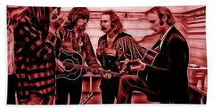Crosby Stills Nash And Young Beach Towel by Marvin Blaine