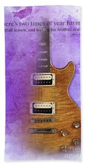Darius Rucker Inspirational Quote, Electric Guitar Poster For Music Lovers And Musicians Beach Sheet by Pablo Franchi