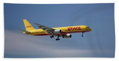 Dhl Boeing 757-236 Pcf Beach Towel