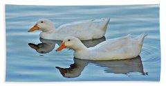 Beach Sheet featuring the photograph 3- Ducks by Joseph Keane