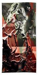 Eddie Van Halen Art Beach Towel