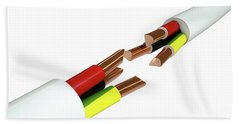 Electrical Cable Cut Beach Towel