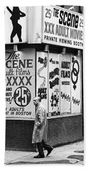 Film Homage Hard Core 1979 Porn Theater The Combat Zone Boston Massachusetts 1977 Beach Towel