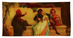 Beach Towel featuring the painting Florentine Poet by Alexandre Cabanel