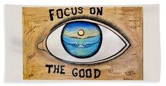 Focus On The Good Beach Sheet