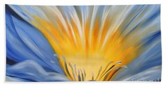From The Heart Of A Flower Blue Beach Towel