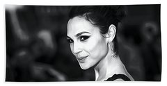 Gal Gadot Print Beach Sheet by Best Actors