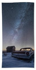 Beach Towel featuring the photograph 3 Galaxies  by Aaron J Groen