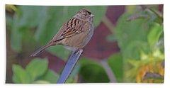 Golden-crowned Sparrow Beach Towel