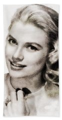 Grace Kelly, Vintage Hollywood Actress Beach Towel by John Springfield