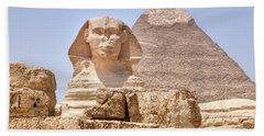 Great Sphinx Of Giza - Egypt Beach Towel