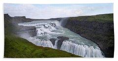 Gullfoss - Iceland Beach Towel