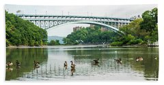Henry Hudson Bridge Beach Towel