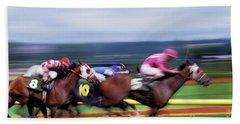 Horse Race Beach Towel