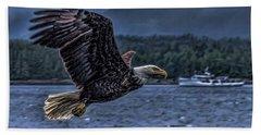 In Flight. Beach Towel by Timothy Latta