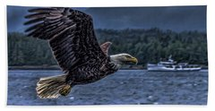 Beach Sheet featuring the digital art In Flight. by Timothy Latta