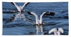 3 Is Company Beach Towel by Jennie Breeze