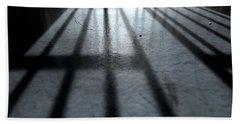 Jail Cell Shadows Beach Towel