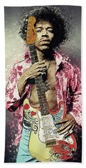 Jimi Hendrix Beach Sheet