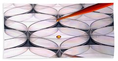 Laboratory Petri Dishes In Science Research Lab Beach Towel