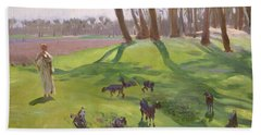 Landscape With Goatherd Beach Towel
