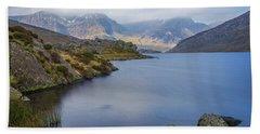Llyn Ogwen  Beach Towel by Ian Mitchell