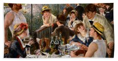 Luncheon Of The Boating Party Beach Towel