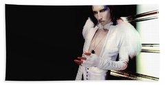 Marilyn Manson Beach Towel