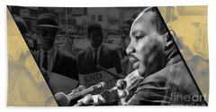 Martin Luther King Collection Beach Towel by Marvin Blaine