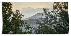 Mountains In The Distance Beach Towel