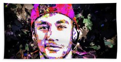 Neymar Beach Sheet by Svelby Art
