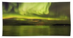 Northern Lights Reykjavik Beach Sheet