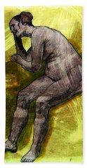 Nude Woman Beach Towel by Svelby Art