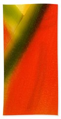 Photograph Of A Lobster Claws Heliconia Beach Towel
