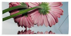 Pink Gerbers Beach Towel by Elvira Ladocki
