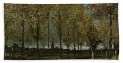 Poplars Near Nuenen Beach Towel