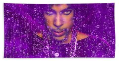 Prince Purple Rain Tribute Beach Towel