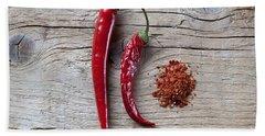 Red Chili Pepper Beach Towel