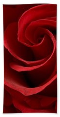 Red Rose I Beach Towel by George Robinson