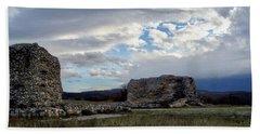 Beach Towel featuring the photograph Roman Ruins by Judy Kirouac