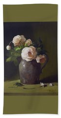 3 Roses In Silver Pitcher Beach Sheet