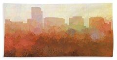 Beach Sheet featuring the digital art Rosslyn Virginia Skyline by Marlene Watson