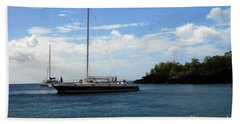 Beach Towel featuring the photograph Sail Boat by Gary Wonning