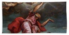 Saint John The Evangelist On Patmos Beach Sheet